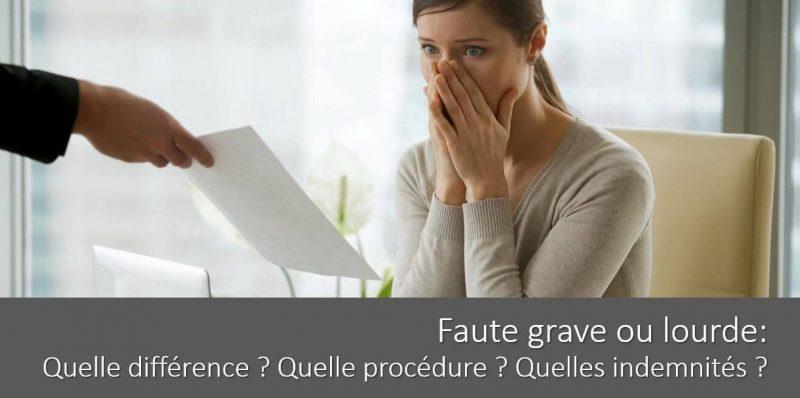 licenciement-faute-grave-ou-faute-lourde-procedure-indemnites-allocations-chomage