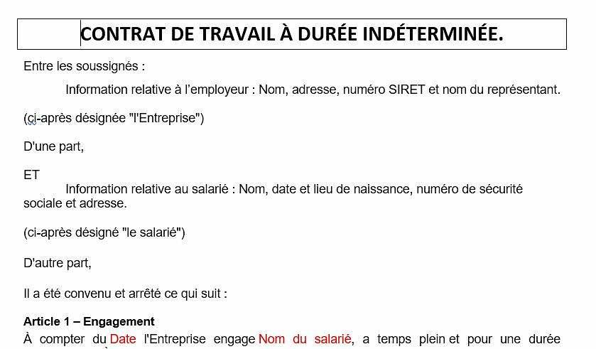 exemple-contrat-travail-clauses-obligatoires-cdi-cdd-interim-alternant