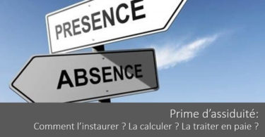 prime-assiduite-calcul-definition-instauration-traitement-paie