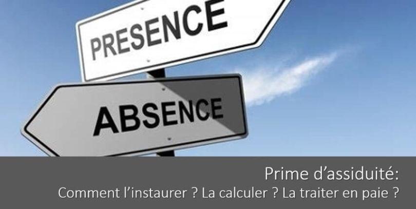 prime-assiduite-calcul-definition-instauration-traitement-paie