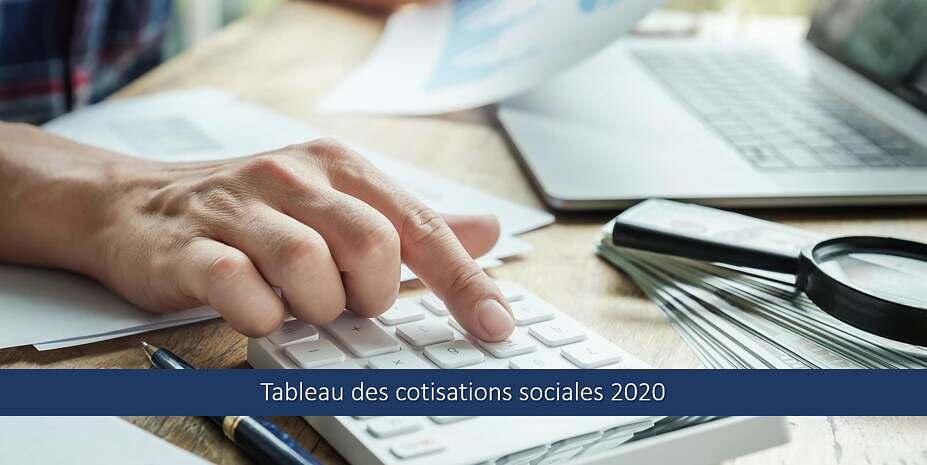 Tableau des cotisations sociales 2020 – Taux & Explications