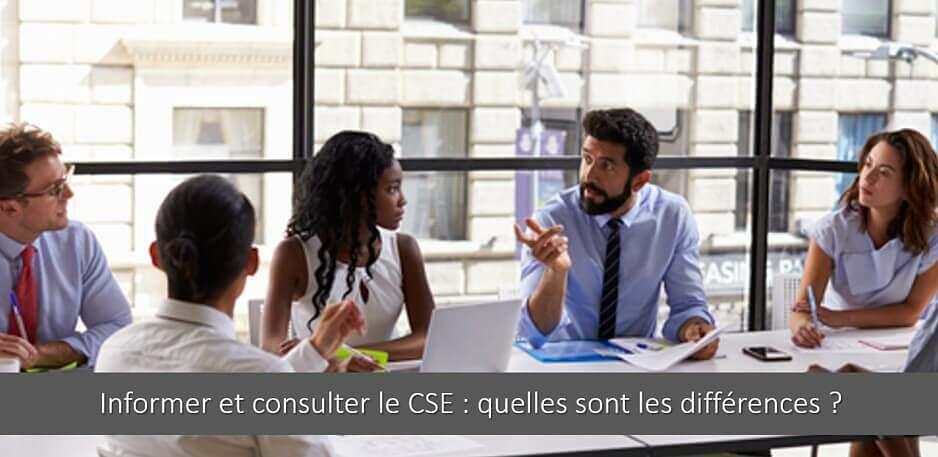 Informer et consulter le CSE : quelles sont les différences ?