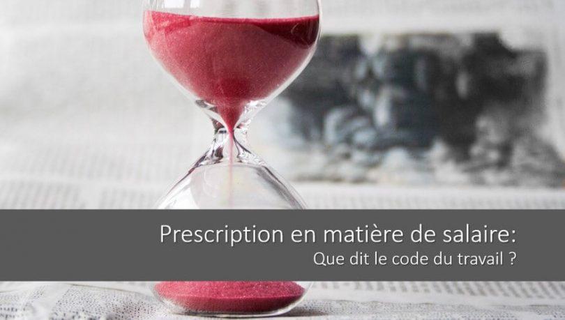 prescription-salaire-code-travail-delais