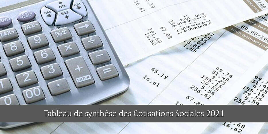 Tableau des Cotisations Sociales 2021 – Taux & Explications