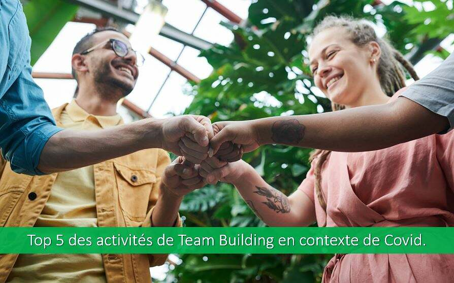 Top 5 des activités de team building en contexte de Covid.