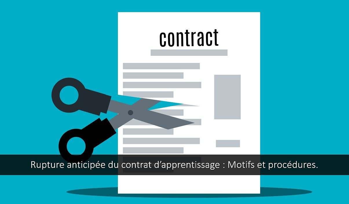 Rupture anticipée du contrat d'apprentissage : motifs et procédures.