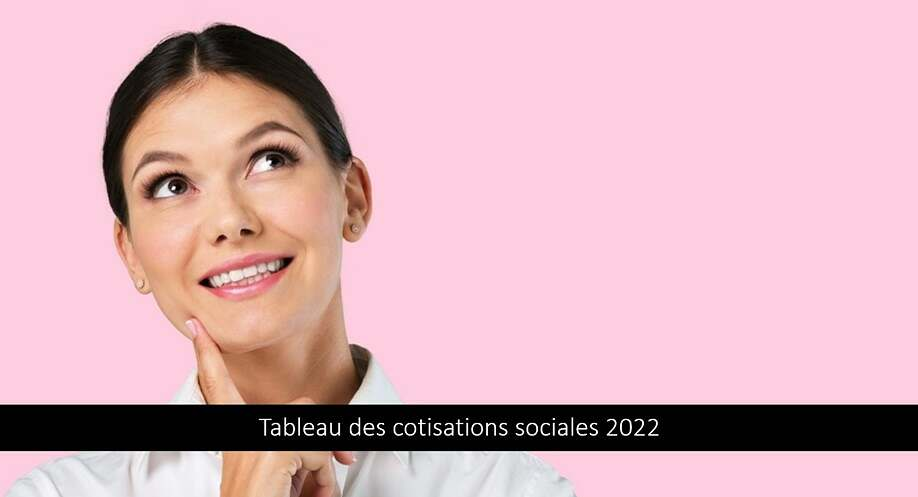 Tableau des cotisations sociales 2022 – Taux & Explications